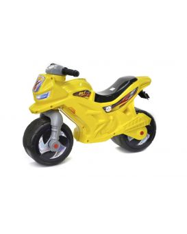Толокар «Мотоцикл» 2-х колесный, лимонный, 68х28,5х47 см, ТМ Орион