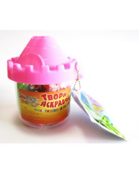 Набор тесто для лепки 12 цветов «Твори ярко» 3D в пластиковой упаковке замок 192 гр.