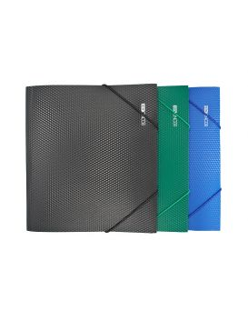 E31602 Папка пластиковая для тетрадей и документов на резинках, В5