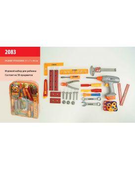 Набор инструментов 36 инструментов, отвертки, дрель, ключи, в рюкзаке 31х7х40 см