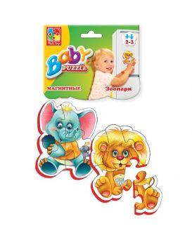 Магнитные беби пазлы.Зоопарк. VT3208-01