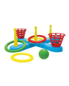 Кольцеброс 5 колец, 5 шариков, 5 корзин, в сетке 46,5х15,5х13,5 см «Технок плюс» ТМ Технок