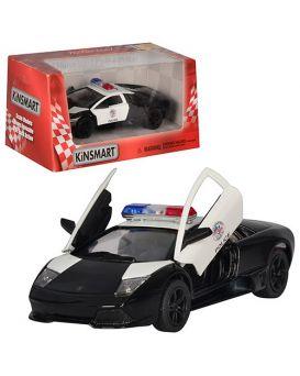Автомобиль металлическая KINSMART «Полицейский Lamborghini LP 640» 12х4х5 см, інерц., у кор.16х7,5х8