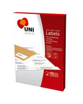 Самоклеящиеся Этикетки «Uni Labels» А4 8 шт. на листе 105 х 74,25 мм