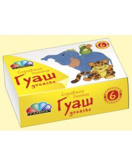 Краски гуашевые Гамма - Н «Любимые игрушки» 6 цв., 10 мл