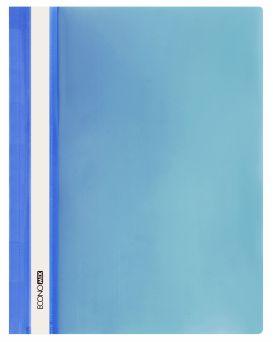 E31511-02 Папка-скоросшиватель с прозрачным верхом синий (глянец
