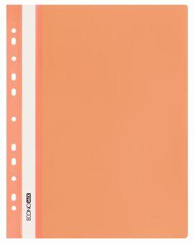 E31510-06 Папка-скоросшиватель с прозрачным верхом оранжевый (глянец