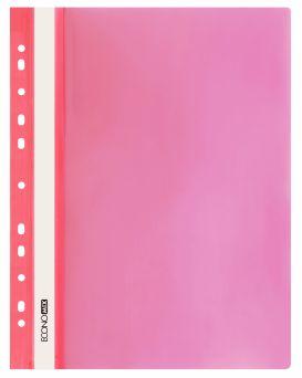 Папка - скоросшиватель с прозрачным верхом, фактура «глянец» красная.