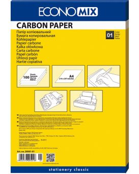 Бумага копировальная 210 х 320 мм, 100 л., черная