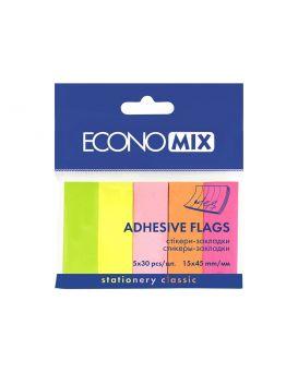 E20935 Стикер-закладка (5 неоновых цветов по 30 бумажек)