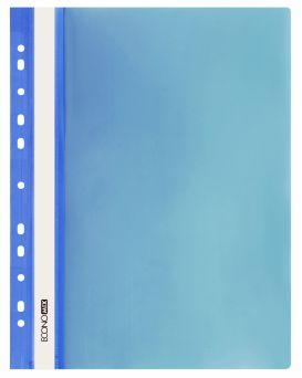 E31510-02 Папка-скоросшиватель с прозрачным верхом синий (глянец