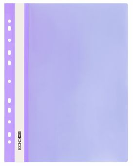 E31510-12 Папка-скоросшиватель с прозрачным верхом фиолетовый (глянец