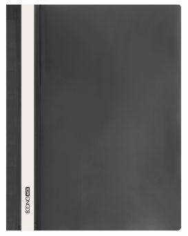 E31511-01 Папка-скоросшиватель с прозрачным верхом черная (глянец