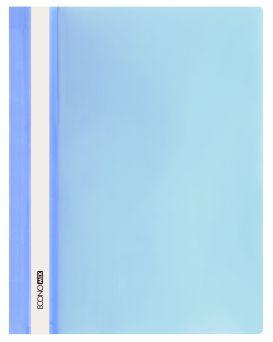 Папка - скоросшиватель с прозрачным верхом А4 без перфорации, голубая.