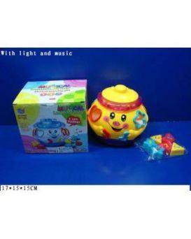 Игрушка «Горшочек» музыкальная на батарейке, свет, танцует, сортер, в коробке 17х15х15 см