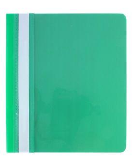 E31507-04 Папка-скоросшиватель с проз.верхом А5,зеленая