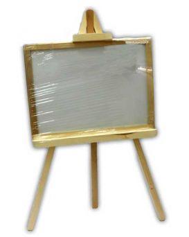 Доска для рисования на 3-ноге 48х35 см, двосторонняя, немагнитная, меленькая «Смерека»