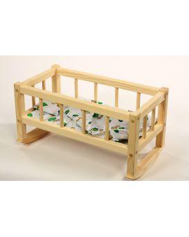 Кроватка для кукол 172016 25*45*35см (разборная) смерека ТМ Дерево