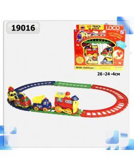 Железная дорога «Детский паровозик» в коробке 26х24х4 см
