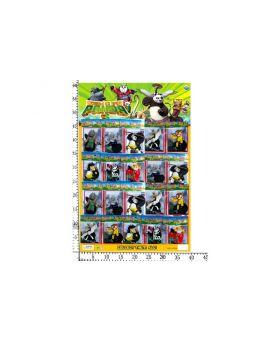 Герои мультфильма «Панда Кунг-Фу» 20 шт. на планшетке 59х39 см
