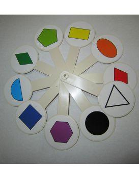 Веер «Цветов и геометрических фигур»