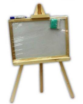 Доска для рисования на 3-ноге большая 70 х 45 см двухсторонняя немагнитная «Смерека»