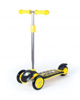 Самокат 3-х колесный, желтый, ТМ Орион