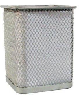 Подставка для ручек квадратная металлическая, серебряная, Z010 804-S