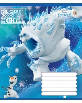 Тетрадь 12 арк., А5, линейка, ЗУ «Frozen Ice-16»