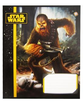 Тетрадь 12 л., А5, линейка, ЗУ «Star Wars Heroes -16»