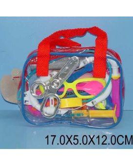 Доктор 3306 стетоскоп,ножницы,пинцет,шприц...17*5*12см
