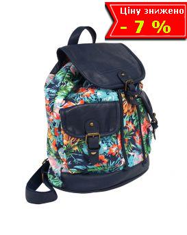 Рюкзак Flora цветочный принт, синий