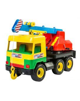 Автомобиль WADER Подъемный кран Middle truck, 38х27х18 см