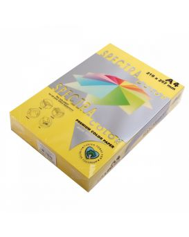 Бумага цветная А4 250 листов, 160 гр/м2, пастель - желтый «Yellow 160» SPECTRА COLOR
