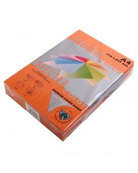 Бумага цветная А4 250 листов, 160 гр/м2, интенсив - оранжевый «Saffron 240» SPECTRA COLOR