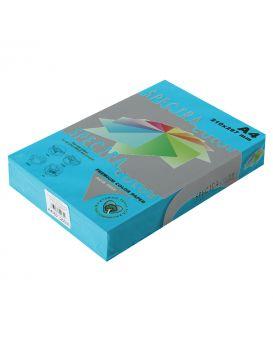Бумага цветная А4 250 листов, 160 гр/м2, интенсив синяя «Turquoise 220» SPECTRА COLOR