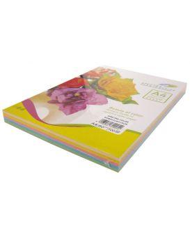 Бумага цветная А4 100 листов, 80 гр/м2, пастель микс, 5х20 «Pack Light» SPECTRA COLOR