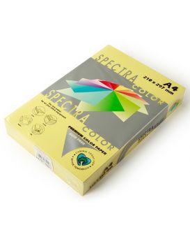 Бумага цветная А4 500 листов, 80 гр/м2, пастель - желтый «Yellow 160» SPECTRA COLOR