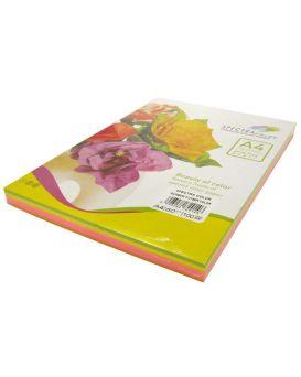 Бумага цветная А4 100 листов, 75 гр/м2, неон, 5х20 «Rainbow Pack Cyber» SPECTRA COLOR