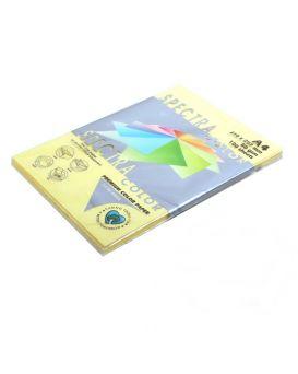 Бумага цветная А4 100 листов, 80 гр/м2, пастель желтая «Yellow 160» SPECTRА COLOR