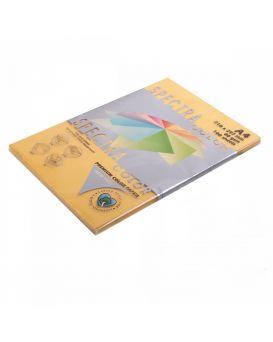 Бумага цветная А4 100 листов, 80 гр/м2, интенсив - золотой «Gold 200» SPECTRA COLOR