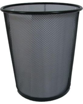 Корзина металлическая, круглая, средняя 22х26,5х28 см, черная 5002-B Leader