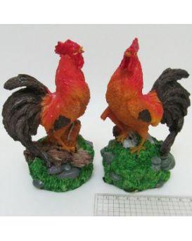 Керамический сувенир «Петух в траве» 14 см