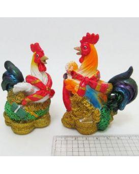 Керамический сувенир копилка «Петушиное богатство» 7х9 см