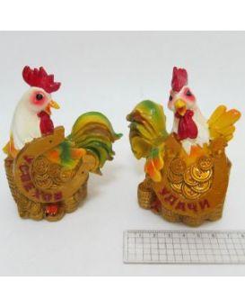 Керамический сувенир копилка «Петух с подковой» 9х11 см