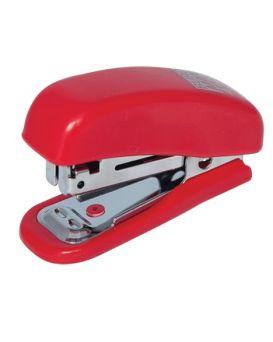 Степлер пластиковый до 10 л., скоба № 10, «Мини» красный.