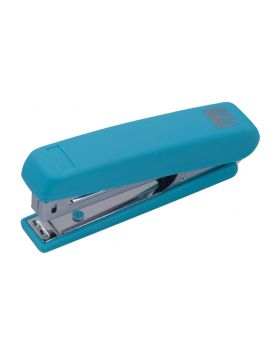 Степлер пластиковый 12 л., скоба № 10 «RUBBER TOUCH» голубой.