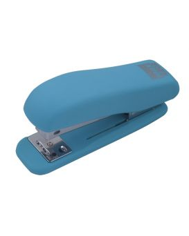 Степлер пластиковый до 20 л. «RUBBER TOUCH» голубой.