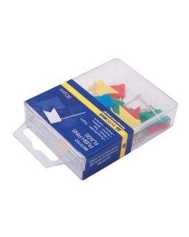 Кнопки - гвозди цветные 30 шт. «Флажки» в пластиковом контейнере, ТМ Buromax