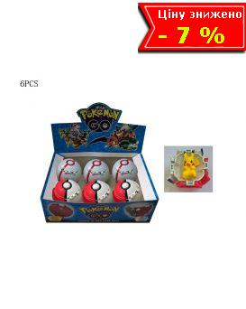 Герои мультфильма «POKEMON GO» в ассортименте, 6 шт. в дисплей боксе 24х7х16 см